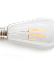 E26/E27 Lâmpadas de Filamento de LED 4 COB 360 lm Branco Quente K Decorativa AC 85-265 V