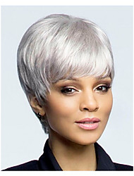 cheap -Synthetic Wig Straight White Women's Capless Carnival Wig Halloween Wig Synthetic Hair
