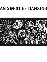 cheap -6pcs New Stylish Nail Art Stamping Plates DIY Polish Printing Stencil Manicure Nail Mold Template (Tian Xin 01-06)