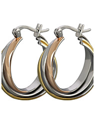 Women's Stud Earrings Hoop Earrings Classic Costume Jewelry Rose Gold Titanium Steel Jewelry For