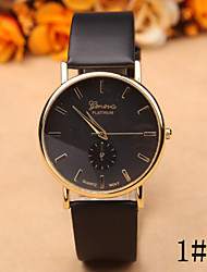 Retro Casual Men And Women Of Geneva Geneva Watches Korean Fashion Leather Quartz Watch Watch Strap Watch