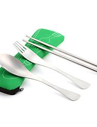 AOTU Chopsticks Aço Inoxidável para