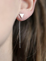 cheap -Women's Drop Earrings - Simple Style European Gold Silver Triangle Earrings For Daily Casual