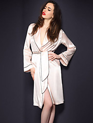 cheap -Classic Gown Robe with Belt