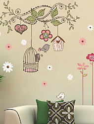 cheap -Landscape Christmas Decorations Florals Holiday Wall Stickers 3D Wall Stickers Decorative Wall Stickers, Vinyl Home Decoration Wall Decal