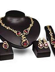 cheap -Women's 18K Gold Cute Jewelry Set Bracelet / Earrings / Necklace - Vintage / Party / Work Gold Jewelry Set For Party / Special Occasion /
