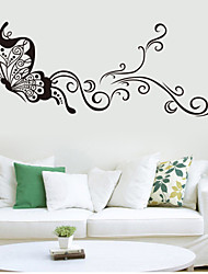Dyr / Botanisk / Tegneserie / Fashion / fantasi Wall Stickers Fly vægklistermærker , Vinyl stickers 106*42m
