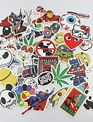 cheap -50 Pcs/ Pack Random Stickers Car Styling Funny Car Sticker Doodle Motorcycle Bike Travel Doodle