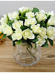 Недорогие -5heads / ветка шелковая гардения настольный цветок искусственные цветы
