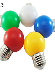 cheap -5pcs 1W E26/E27 LED Globe Bulbs 100LM Red/Blue/Green/Yellow/White Color Decorative AC220-240V