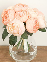 cheap -Rounded Blooming Rose Bouquet Bride Hand Tied Bouquet(6 Branch/Bouquet)