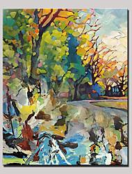 Pintados à mão Abstrato Paisagem Vertical,Modern Pastoril 1 Painel Tela Pintura a Óleo For Decoração para casa