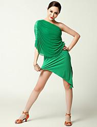cheap -Latin Dance Dresses Women's Performance Tulle / Viscose Ruffles Dress