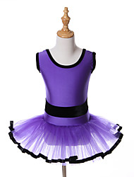 cheap -Ballet Dresses Tutus Tutus & Skirts Training Performance Spandex Tulle Sashes / Ribbons Sleeveless Halloween Decorations Princess Dress