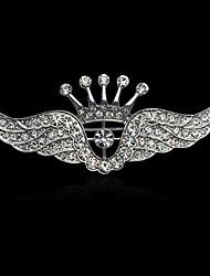 Herrn Damen Elegant Modisch Luxus-Schmuck vergoldet Diamantimitate Aleación Kronenform Flügel Schmuck Für Hochzeit Party Normal