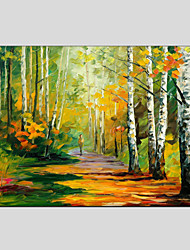 cheap -Oil Paintings Modern Landscape Rainy Street, Canvas Material With Wooden Stretcher Ready To Hang SIZE:60*90CM.