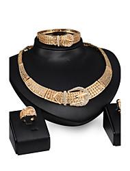 preiswerte -Damen Schmuckset Hochzeit Party Leder Aleación Haken 1 Paar Ohrringe 1 Armreif Halsketten