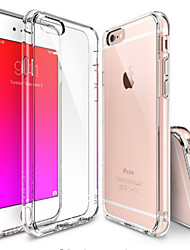 abordables -Funda Para Apple iPhone 6 iPhone 6 Plus Transparente Funda Trasera Color sólido Suave TPU para iPhone 6s Plus iPhone 6s iPhone 6 Plus