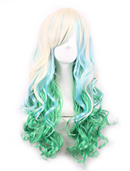 Lolita Light Golden Gradient Green Maid Japanese Cosplay Wigs