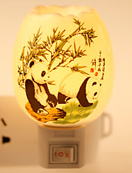 cheap -Panda-patterned  Ceramic Lamp Night Light  Bdeside Lamp Fragrance Festival Gift