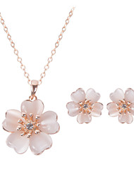abordables -Mujer Cristal Conjunto de joyas - Incluir Oro Rosa Para Boda / Fiesta / Diario
