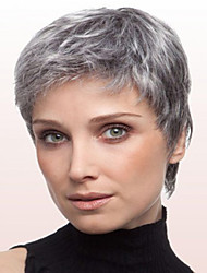 cheap -Synthetic Wig Straight Gray Capless Short Synthetic Hair