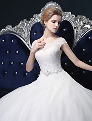 Robe de bal robe de mariée en tulle avec crystal by lan ting bride®
