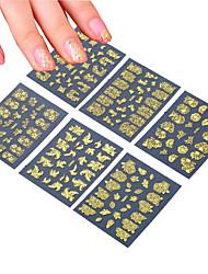 Autocolantes de Unhas 3D / Jóias de Unhas - Punk - para Dedo - de PVC - com 6pcs - 62mm*52mm