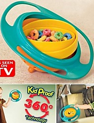 Feeding Bowl Plastic 360 Degree Rotating Flexible Children Bowl Training Bowl Rotating Bowl Gyro Baby Food Do Not Spill