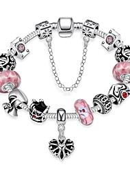 billige -Dame Armbånd - Sølvbelagt Hjerte Mode Armbånd Lys pink Til Bryllup / Arbejde