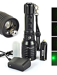 4 LED Flashlights / Torch Laser LED 1200 lm 4 Mode Cree XM-L T6 with Charger Zoomable Impact Resistant Rechargeable Waterproof Tactical