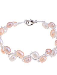 cheap -Women's Pearl / Imitation Pearl / Pink Pearl Strand Bracelet - Unique Design / Fashion White / Champagne Bracelet For Party / Daily /