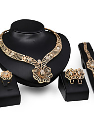 cheap -Cute 18K Gold Jewelry Set Statement Necklace  -  Vintage Party Casual Necklace For