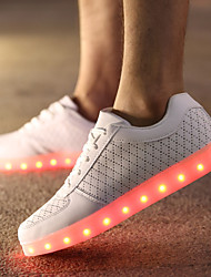 LED Light Up Shoes, Running Shoes Casual Leather Fashion Sneakers Black / White