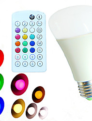 E26/E27 LED Globe Bulbs A60(A19) 18 SMD 5730 800 lm Warm White Cold White Natural White RGB 2900~6500 K Dimmable Remote-Controlled