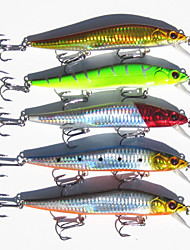 "cheap -5 pcs Fishing Lures Minnow Hard Bait g / Ounce, 140 mm / 5-9/16"" inch, Hard Plastic Carbon Steel Sea Fishing Bait Casting Spinning"