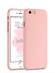 billige -For iPhone 6 etui iPhone 6 Plus etui Stødsikker Etui Bagcover Etui Helfarve Blødt Silikone for Apple iPhone 6s Plus/6 Plus iPhone 6s/6