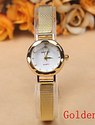 cheap -Women's Quartz Wrist Watch Hot Sale Alloy Band Charm Fashion Silver Gold