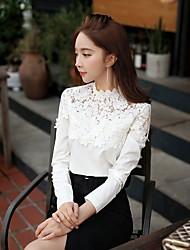 cheap -DABUWAWA Women's shirts white lace slim long sleeve blouse