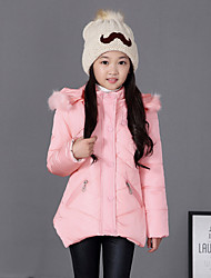 cheap -Girl's Blue / Pink / Red Down & Cotton Padded , Check Polyester Winter
