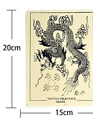 basekey 5pcs x dragon tattoo falske hud til tatovering praksis 15 x 20cm