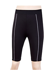 Cycling Padded Shorts Women's Bike Shorts Breathable Quick Dry Sweat-wicking Solid Yoga Black