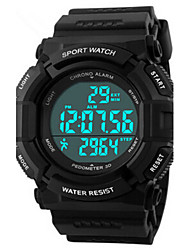 cheap -Men's Sport Watch Wrist Watch Digital 50 m Water Resistant / Water Proof Alarm Calendar / date / day PU Band Digital Charm Black - Black Blue / Chronograph / LED