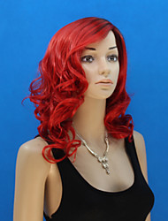 cheap -In Europe And The United States The New Red Long Inclined Bang Wig