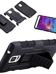 preiswerte -Für Samsung Galaxy Note Stoßresistent / mit Halterung Hülle Rückseitenabdeckung Hülle Panzer PC Samsung Note 5 / Note 4 / Note 3