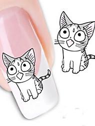 1 Neglekunst Klistermærke Vandoverførende decals Negle Smykker 3D Negle Stickere Smuk Makeup Kosmetik Neglekunst Design