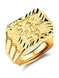cheap -Good Luck to Get Rich Men 24 K Gold Ring