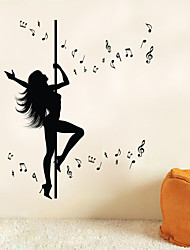 9294 Art Wall Stickers Pole Dance Studio DIY Home Decorations Wall Decals Living Room