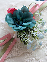 cheap -Wedding Flowers Multicolor Free-form Peonies Wrist Corsages Wedding Accessories