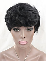 cheap -Brazilian Virgin Human Hair None Lace Wigs Short Natural Wave Machine Made Short Bob Wigs for Black Women